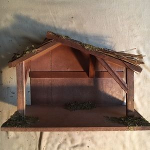 Other - Wooden Stable with Moss and Straw Roof